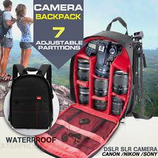 Waterproof DSLR Camera Backpack Shoulder Bag Case For Canon / Nikon / Sony Red