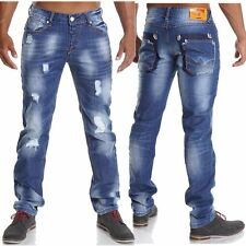 Herren-Straight-cut-niet(en)hose aus Denim