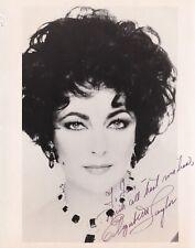 Elizabeth Taylor autograph hand signed photograph actress film star