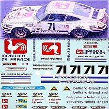 PORSCHE 911 CARRERA RS Le Man S 1975 #71 Joël laplacette 1:24 Pegatina Adhesivo