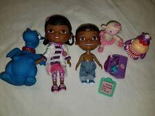 "Disney Doc McStuffins 9"" Doll Donny Hallie tools doctor Bag lambie chilly lot"