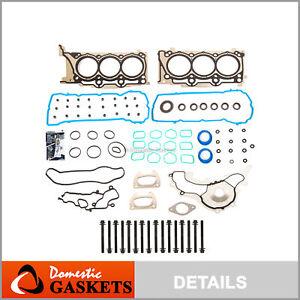 Head Gasket Set Bolts Fit 11-16 Ram Chrysler Dodge Avenger Jeep 3.6L DOHC VIN G