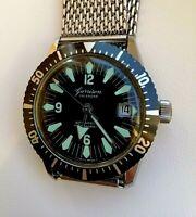 Vintage Garrison Calendar Mechanical Wrist Watch Diver Swiss Made. Rare!!!