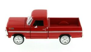 1:24 Scale 1969 Ford F-100 Pickup Red American Classics Diecast Motor Max