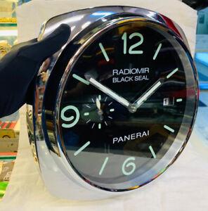 Radiomir Black Seal Panerai Dealer display wall clock swiss made