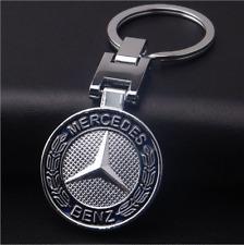 NEW hot Mercedes-Benz Car KeyRing STAINLESS CAR LOGO FOB KEY RING KEY CHAIN