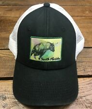 NEW South Florida Bulls Mesh Trucker Hat Cap Snapback BLACK WHITE (E)