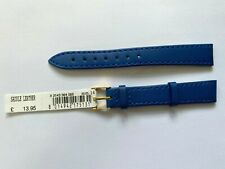 Morellato Blue Saddle Leather Strap 14mm with Gold Buckle