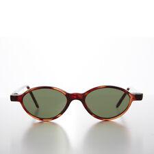 659061b150 Marron Petit Ovale Fin Edgy Slip Taille Basse Vintage Années 1990
