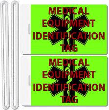 2x Medical Equipment Identification Tags TSA Carry-On CPAP BiPAP APNEA POC APAP
