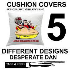 Personalised Desperate Dan Cushion Cover Xmas Christmas Pillow Protector Sofa