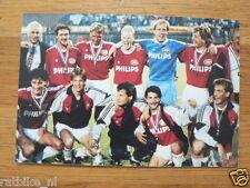 PSV VOETBALTEAM POSTCARD INFOCARD 1984 ?,KOEMAN,VAN BREUKELEN,VOETBAL,SOCCER