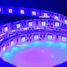 16.4ft 5M 5050 UV LED Strip Light Ultraviolet 395nm Purple 300led Waterproof 12V