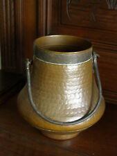 ANCIEN POT CHAUDRON EN CUIVRE    CACHE - POT estampille  marmite
