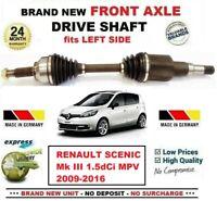 Pour Renault Scenic Mk III 1.5dCi MPV 2009-2016 Tout Neuf avant Gauche Arbre