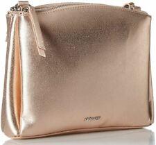 Nine West $59 Levona Crossbody Shoulder Bag Rose Gold Double Zip Top Magnetic
