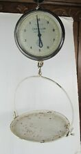 Antique General Store Hanging Scale W/Pan Chatillon 10LBs Vintage