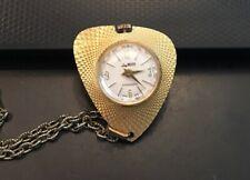 Made Goldtone Locket Watch.Works Vtg Lady Nelson Antimagnetic Swiss