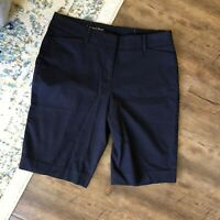 "TALBOTS The Perfect Short Size 4 10"" Ins Navy Blue Bermuda"