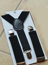 Black 1PCS Children Kids Toddler Clip-on Suspenders Elastic Adjustable Brace