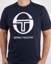 Sergio Tacchini Iberis Logo T-Shirt in Navy & White - short sleeve crew tee