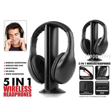 1/2X 5 In 1 Wireless Stereo Headphone Earphone Headset for MP3 PC TV FM iPod PC