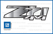 set of 2 - Z71 4x4 Chevy Silverado 2007-2013 Decals Stickers Chrome Fade GRCHRM