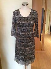 James Lakeland Dress Bnwt Size12 Brown Beige Animal Print RRP £159 Now £39