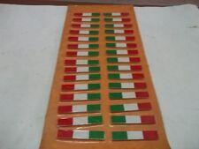 ADESIVO DECALCOMANIA TARGHETTA  BANDIERA ITALIA TRICOLORE kit 30 PEZZI 8,5 x 1,5