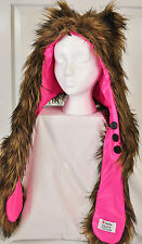 nwot! Skaist Taylor animal head cover size S-M fauz fur lining button up