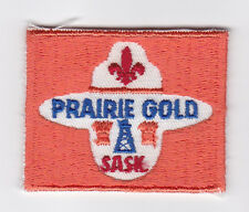 SCOUTS OF CANADA -  CANADIAN SCOUT SASKATCHEWAN PRAIRIE GOLD SASK DISTRICT Patch