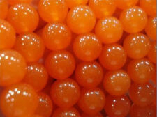 "Huge 12mm Rare Orange South America Topaz Round Loose Beads 15"" AAA"