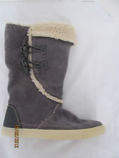New ROCKET DOG Gray TANSY Washed Corduroy Cotton  Boots sz 7