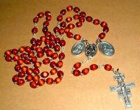 FRANCISCAN CROWN Rosary 27 in NIB Catholic St Francis  NEW Mary