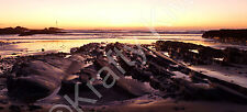 Summerleaze Beach Bude Sunset Cornwall Photo Canvas 10 x 22 inch panoramic (UK)