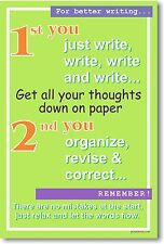 For Better Writing - Language Arts Classroom School English POSTER