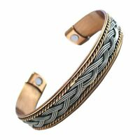 Bio Therapy Arthritis Pain Relief Bangle Cuff Magnetic Copper Bracelet Healing