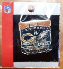 Philadelphia Eagles VS Chicago Bears 11/22/09  Game Day Pin FREE SHIPPING