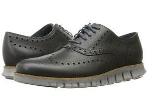 Men's Shoes Cole Haan ZEROGRAND WING Oxfords Leather C25005 NAVY / COBBLESTONE