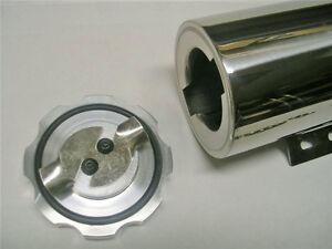 "2x10"" Stainless Radiator Overflow Catch Tank Street Rat Rod 10 inch Cooling Nice"