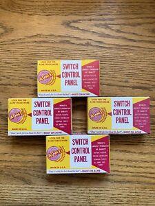 4x Acme #498 Panel Mount Switch Controls NOS