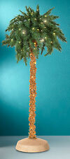 5 Foot Lighted Tropical Palm Tree 150 Clear Lights Indoor Outdoor Use