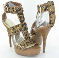 INC International Concepts Morgan Womens Brown Leopard High Heels Shoes-8.5
