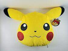 Pikachu Head Shape Pillow Cushion Plush Doll Toy Factory Pokemon Glitter Cheeks