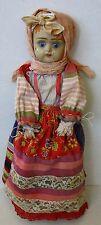 "Antique Russian doll Dunaev Factory Terracotta Head 15.5"" Rare"