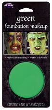 GREEN Water Based Foundation Face Paint Makeup Halloween Fancy Dress Costume