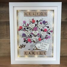 LED Light Box Frame Family Tree Scrabble Special Wedding, Anniversary Gift
