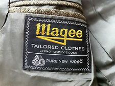 Magee 2 piece Classic wool suit double vent Vintage Retro