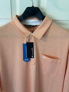 "Travis Mathew ""Panka"" Golf Polo Heather Persimmon XL"