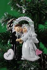 Personalizzata albero di Natale Decorazione Ornamentale WEDDING COPPIA sotto il Arch